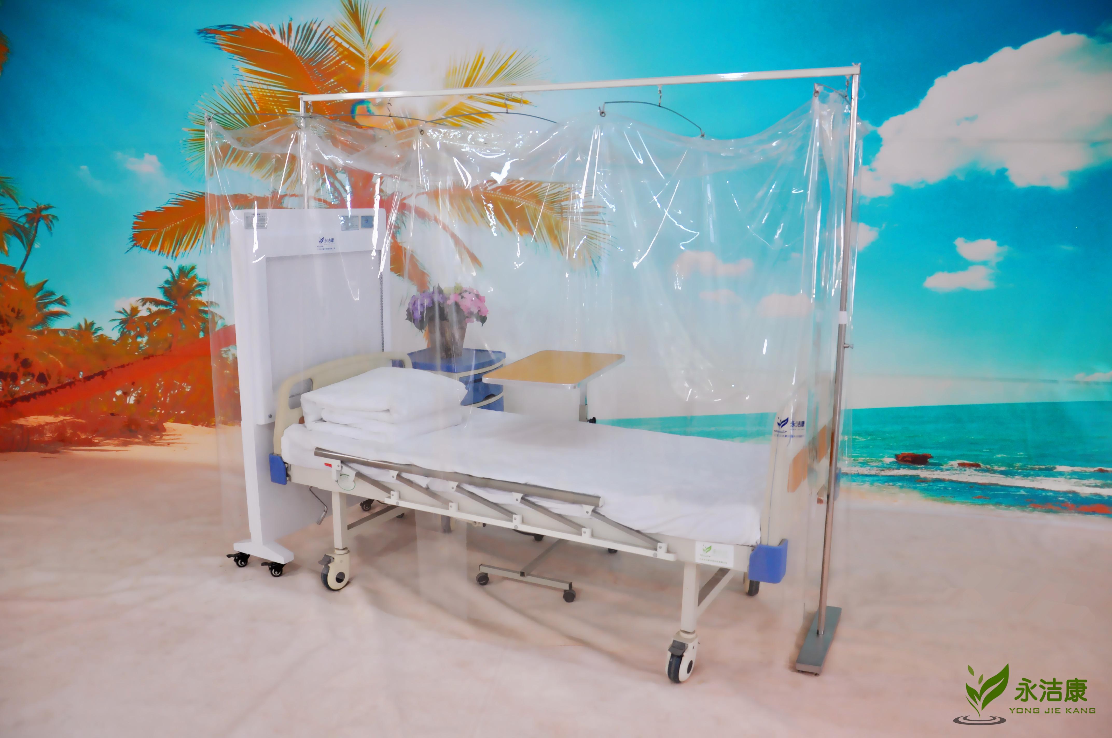 无菌层流床罩_层流床罩单直轨支架款